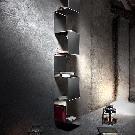libreria acciaio inox inventoom segmento