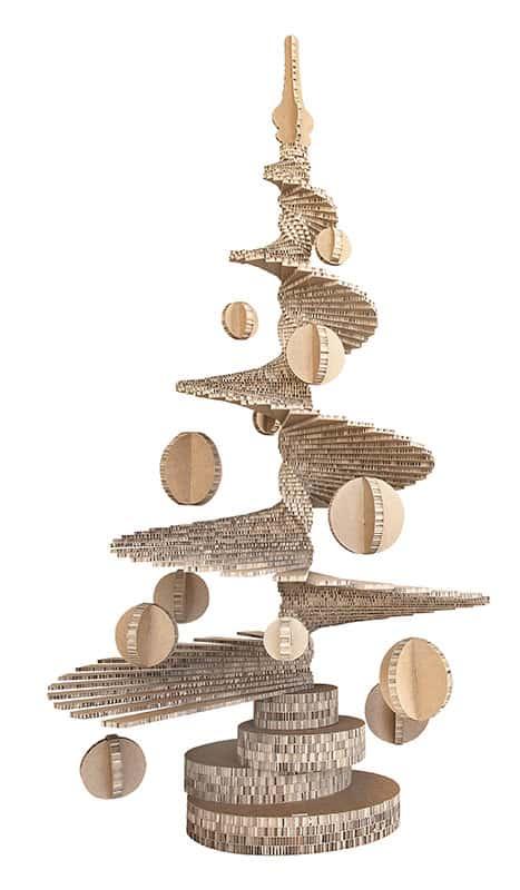 albero di natale in cartone arbor charta inventoom