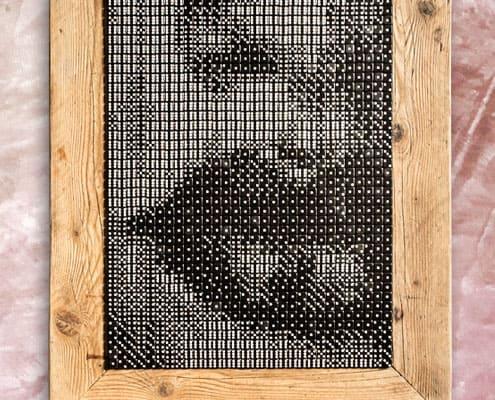 Labbra piccanti quadro con dadi da gioco Inventoom