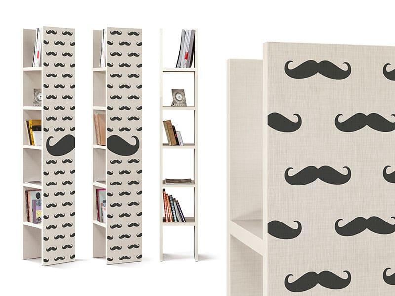 librerie con decoro baffi cripto one mustache inventoom