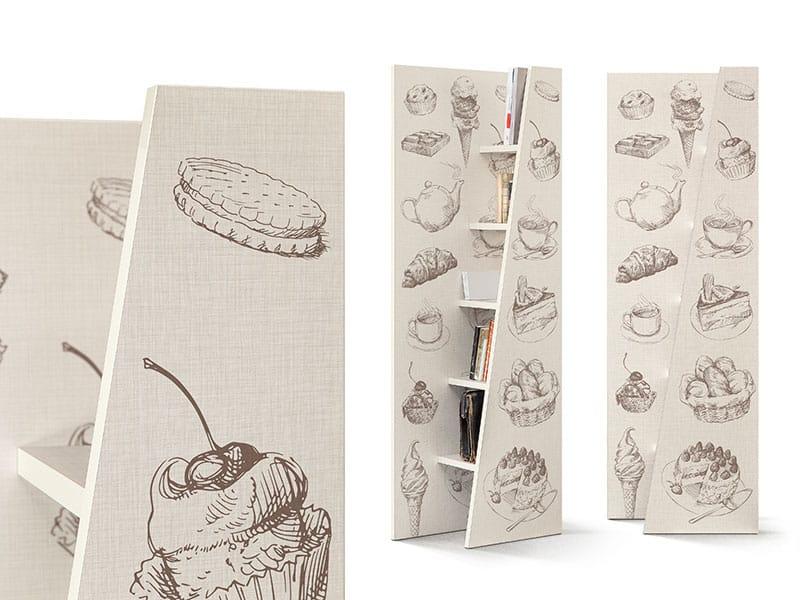 scaffali con disegni vintage inventoom