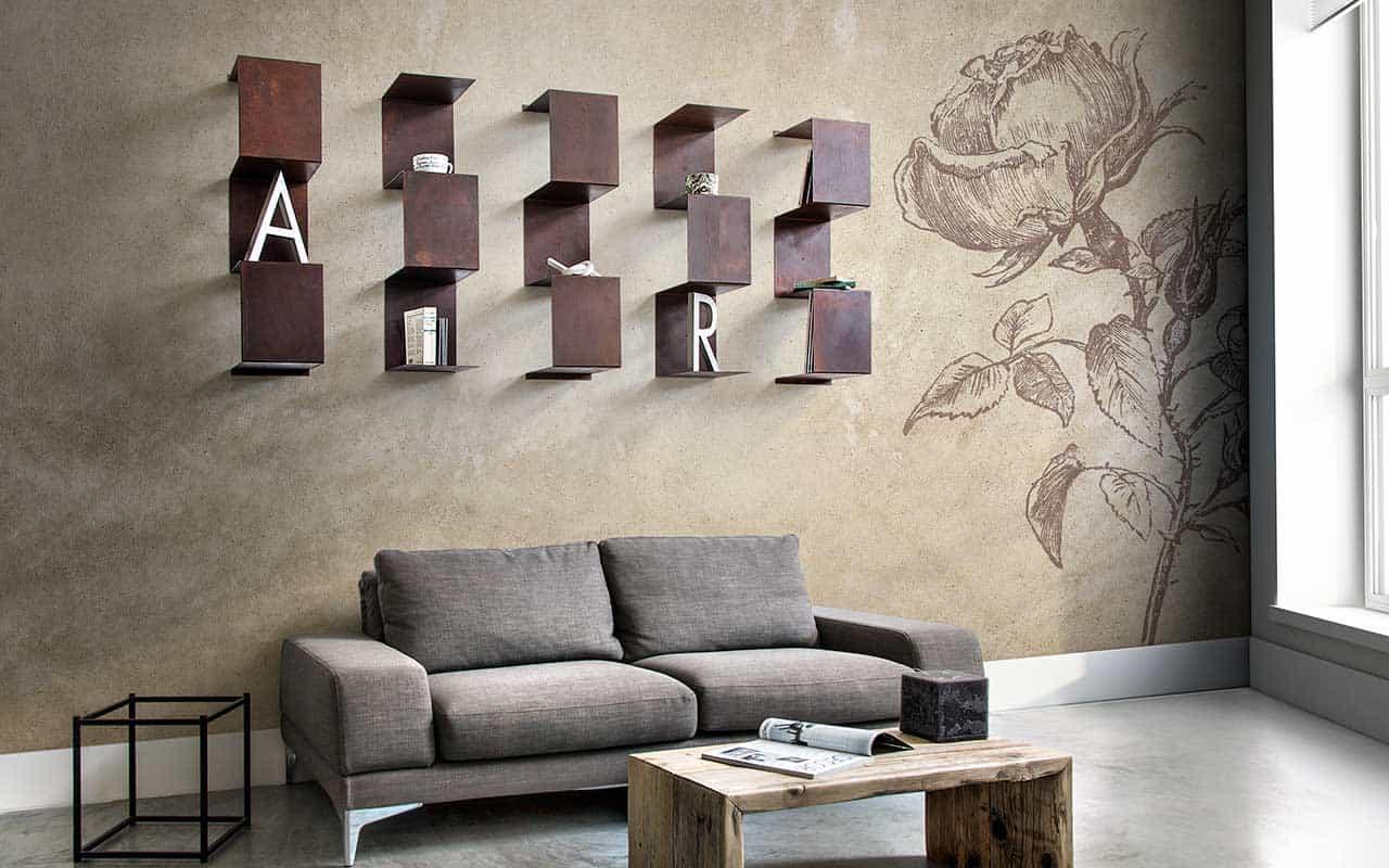 Mensole in corten design modulare inventoom made in italy - Mensole da parete design ...