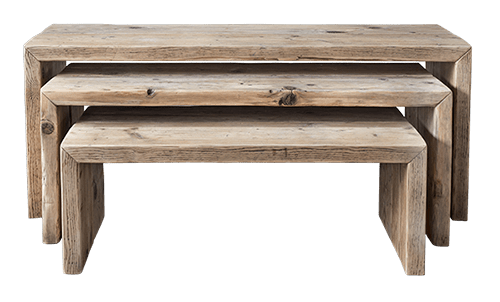 tavolini da salotto in legno vecchio
