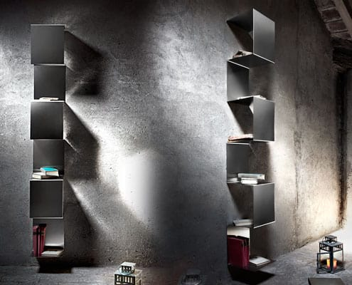 Libreria in acciaio inox segmento inventoom made in Italy
