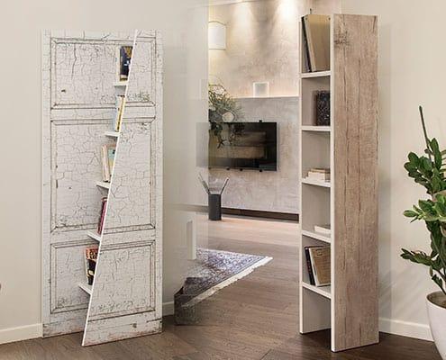 Librerie con decoro legno vintage Cripto Old Wood