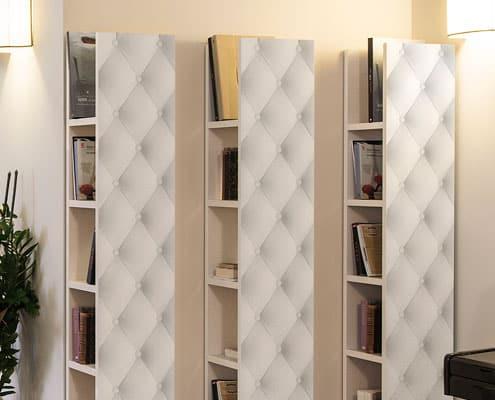librerie con effetto tessuto inventoom