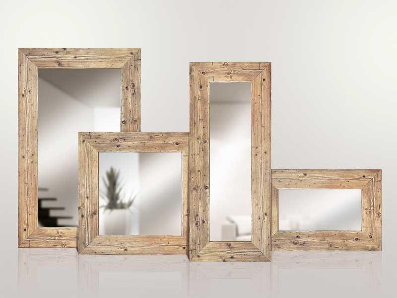 Specchi in legno massello di recupero inventoom