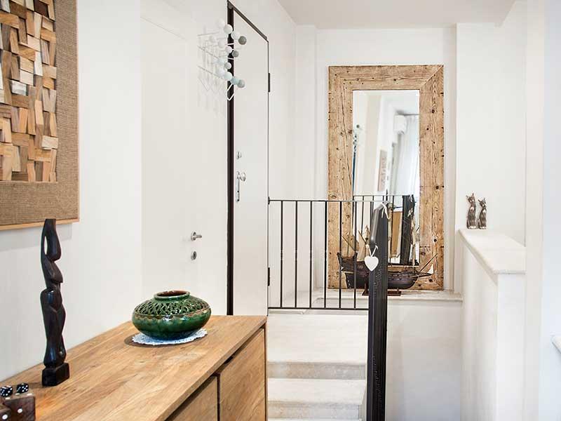 Specchio in legno massello di recupero inventoom