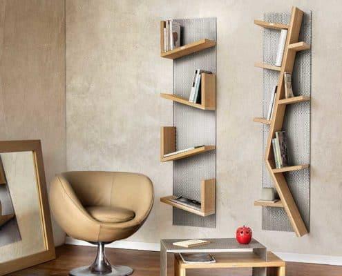 libreria in rovere reticolo inventoom