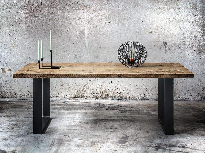 Tavolo in legno massello di recupero made in italy for Tavolo di legno pieghevole