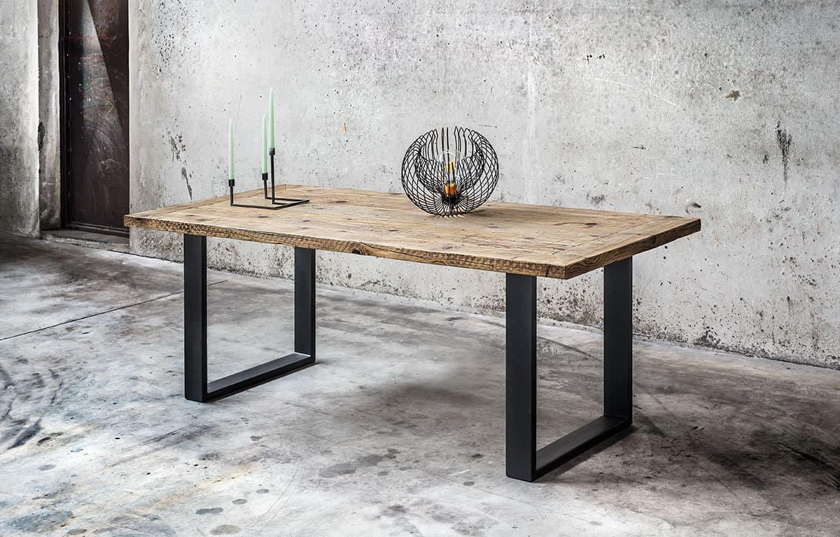 Tavolo in legno massello di recupero made in italy inventoom - Tavolo legno massello ...
